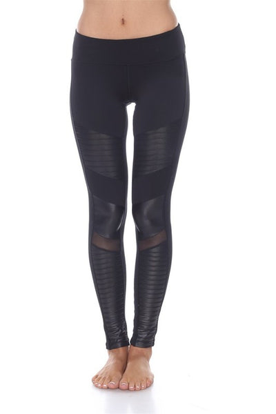 Black Stretch Moto Leggings (ALSO IN SIZE XL!!)