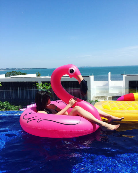 Flamingo Ring Float - letsfloatsg