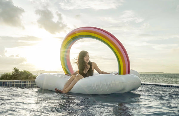 Rainbow Cloud Float - letsfloatsg