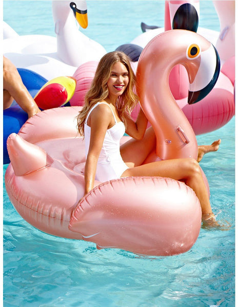 Rose Gold Flamingo Float - letsfloatsg