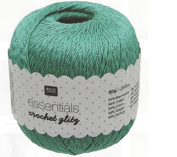 Rico Essentials Crochet Glitz Yarn - 50g - 383138 - The Crafty Knitter