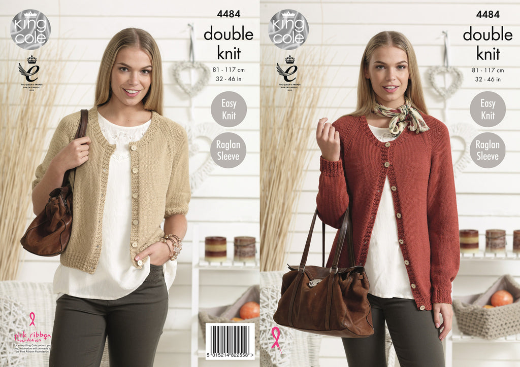 King Cole 4484 - Ladies Cardigans in DK Pattern - The Crafty Knitter Ltd - 1