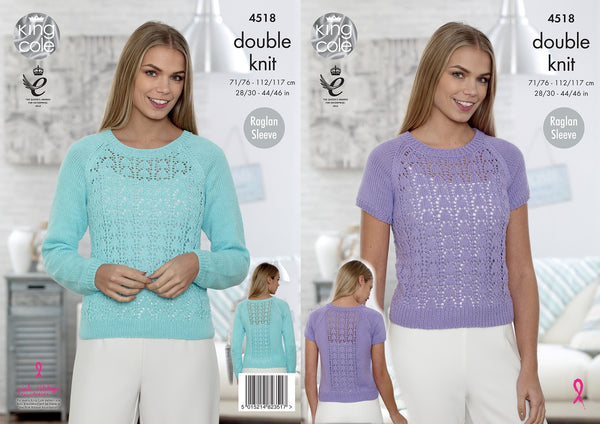 King Cole 4518 - Ladies Sweaters in DK Pattern
