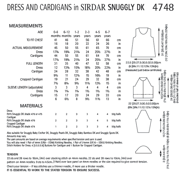 Sirdar 4748 - Girls Dress & Cardigans in Snuggly DK Pattern - The Crafty Knitter Ltd - 2