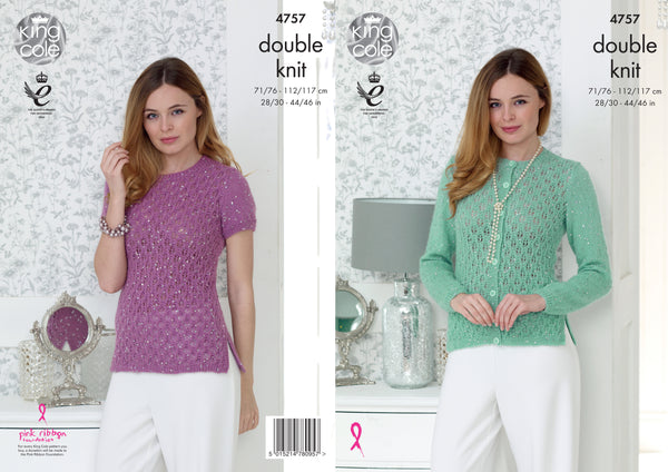 King Cole 4757 - Ladies Cardigan & Sweater in Galaxy DK Pattern