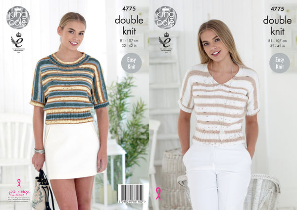 King Cole 4775 - Ladies Tops in DK Pattern - The Crafty Knitter