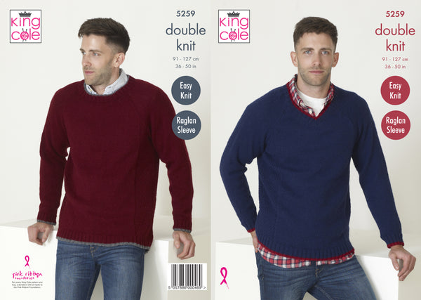 King Cole 5259 - Men's Sweaters in DK Knitting Pattern