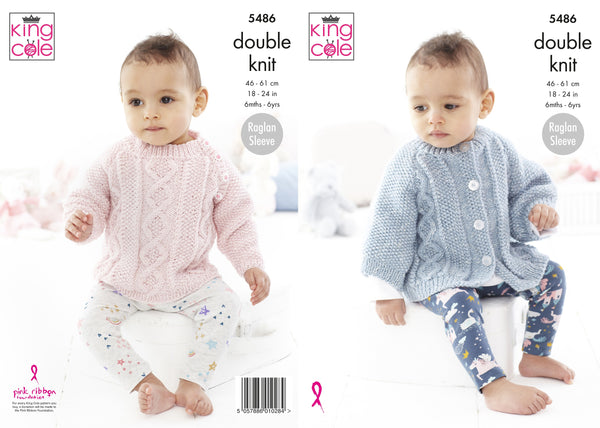 King Cole 5486 - Children's Sweater & Cape in DK Knitting Pattern