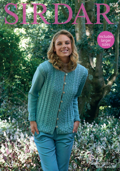 Sirdar 8052 - Ladies Jacket in Sirdar No.1 Pattern - PDF Download - The Crafty Knitter