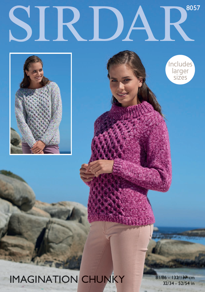 Sirdar 8057 - Sweaters in Sirdar Imagination Chunky Pattern