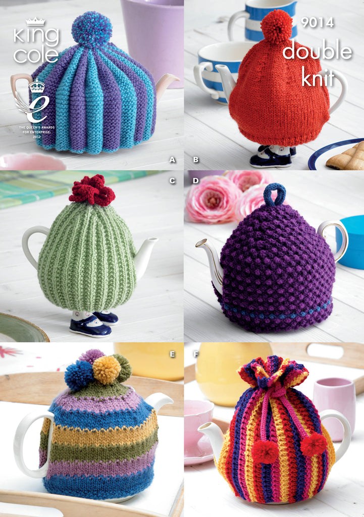 King Cole 9014 - Tea Pot Cosies in DK Pattern - The Crafty Knitter Ltd - 1