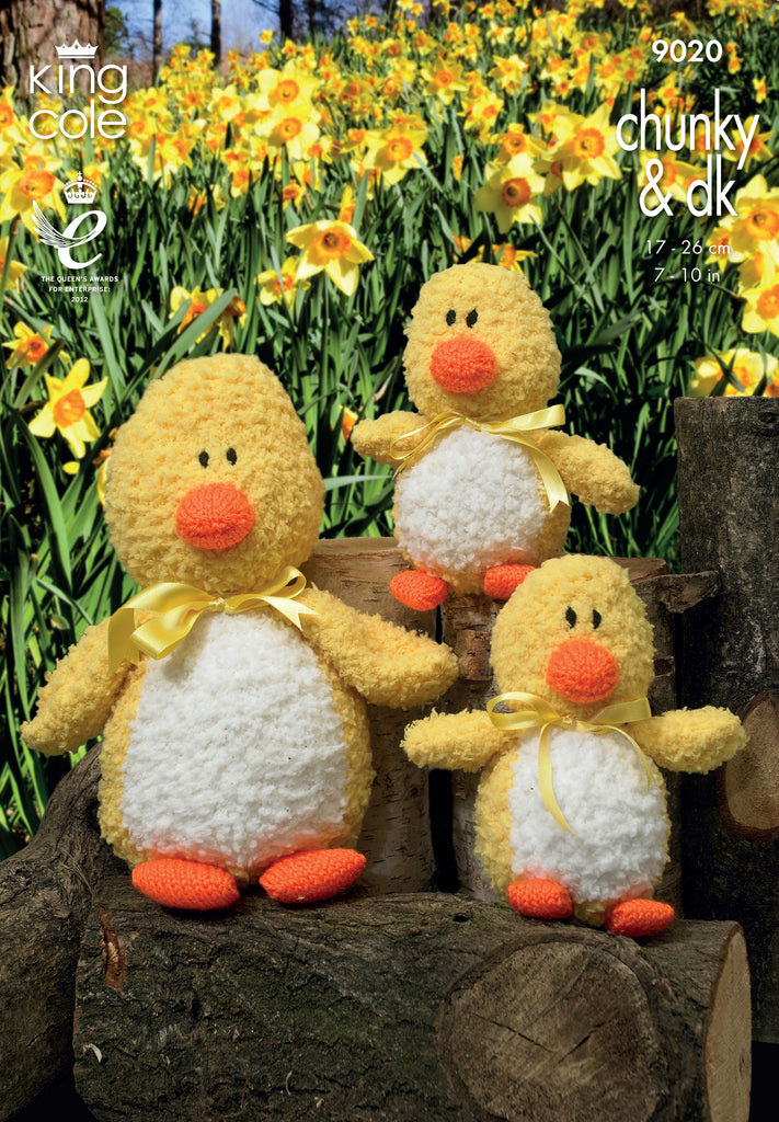King Cole 9020 - Cuddles Duck in Chunky & DK Yarn Pattern - The Crafty Knitter Ltd - 1