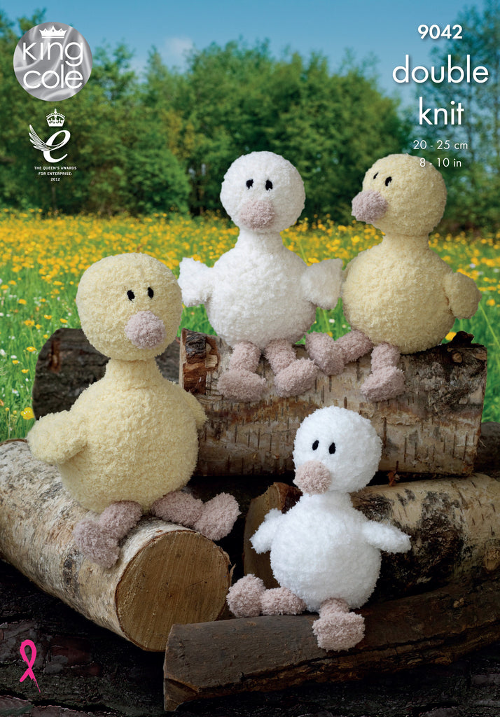 King Cole 9042 - Cuddles Duck in DK Yarn Pattern - The Crafty Knitter Ltd - 1