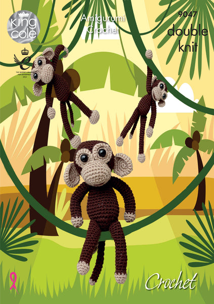 King Cole 9047 - Amigurumi Crochet Chimp in DK Yarn Pattern - The Crafty Knitter