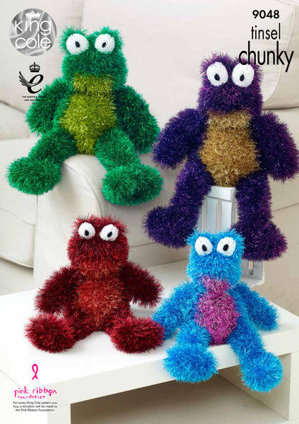 King Cole 9048 - Frogs in Tinsel Chunky Yarn Pattern - The Crafty Knitter