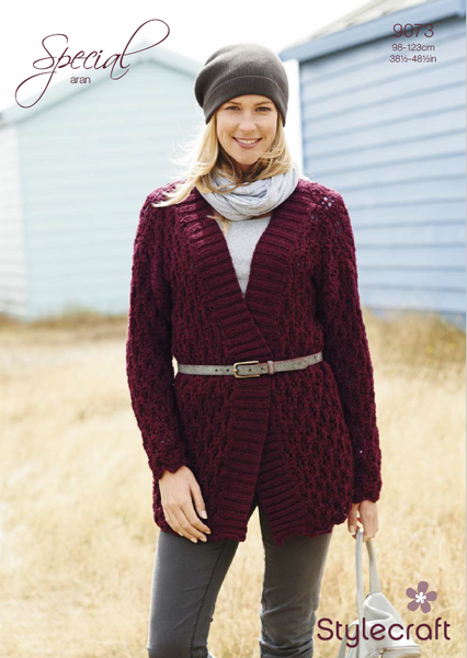 Stylecraft 9073 - Ladies Jacket in Special Aran Knitting Pattern