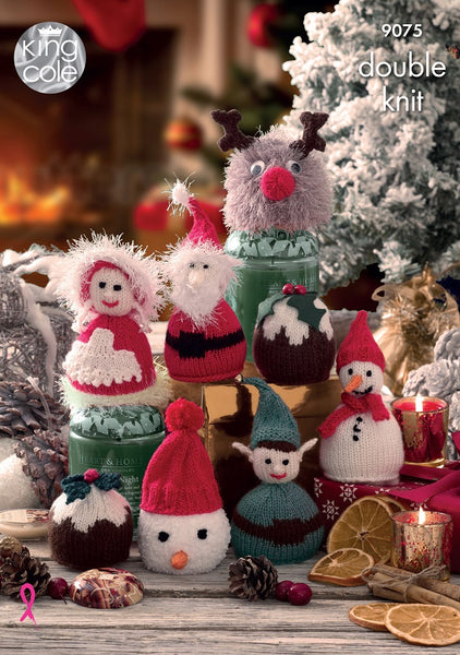 King Cole 9075 - Christmas Candy Cosies in DK Pattern