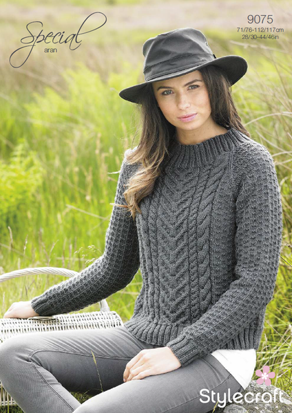 Stylecraft 9075 - Sweater in Special Aran Knitting Pattern