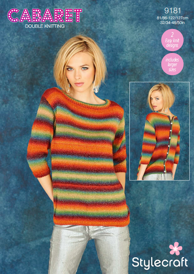 Stylecraft 9181 - Ladies Sweaters in Cabaret DK Pattern