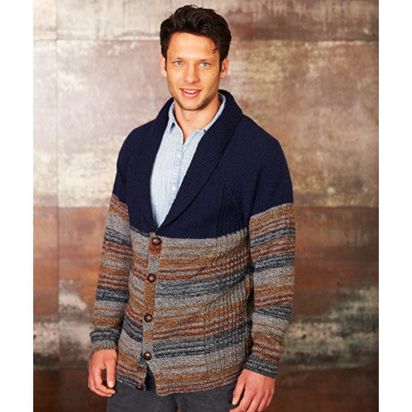 Stylecraft 9312 - Mens Cardigans in Life Vintage Look DK Pattern - The Crafty Knitter