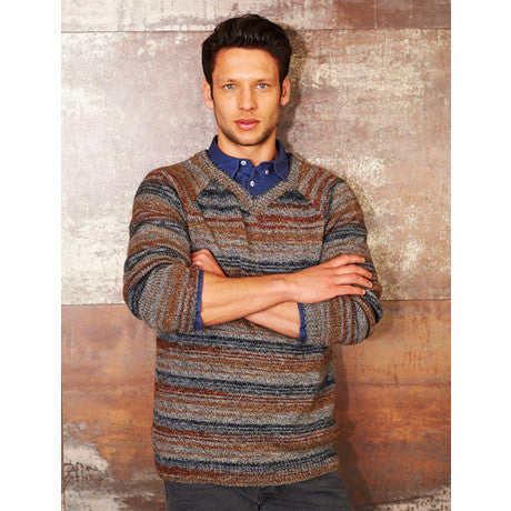 Stylecraft 9313 - Mens Sweaters in Life Vintage Look DK Pattern - The Crafty Knitter