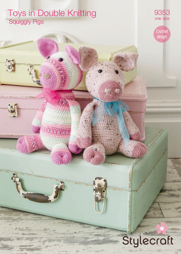 Stylecraft 9353 - Toy Pigs in DK Crochet Pattern