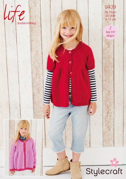 Stylecraft 9439 - Childrens Cardigans in Life DK Pattern