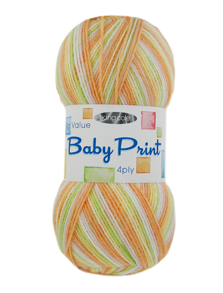 King Cole Big Value Baby Print 4 Ply - The Crafty Knitter