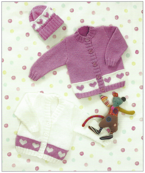 James C Brett JB083 - Baby's Cardigan and Hat in DK Pattern - The Crafty Knitter Ltd - 2