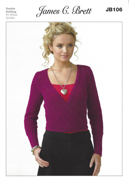 James C Brett JB106 - Ladies Cardigan in DK Pattern - The Crafty Knitter Ltd - 1