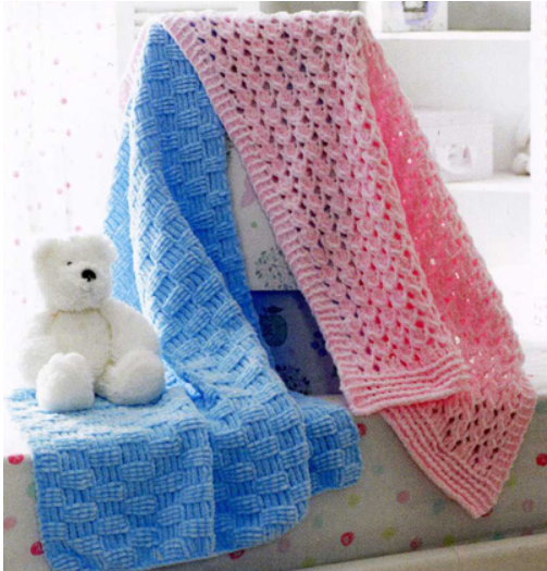 James C Brett JB173 - Blankets in Flutterby Chunky Pattern - The Crafty Knitter Ltd - 2