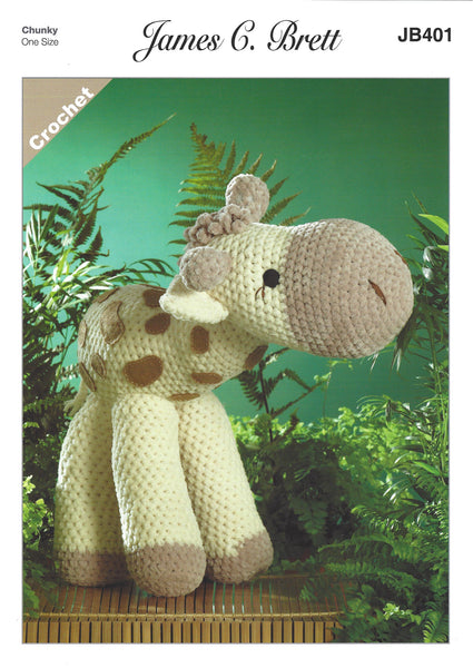 James C Brett JB401 - Sunshine the Giraffe in Flutterby Crochet Pattern