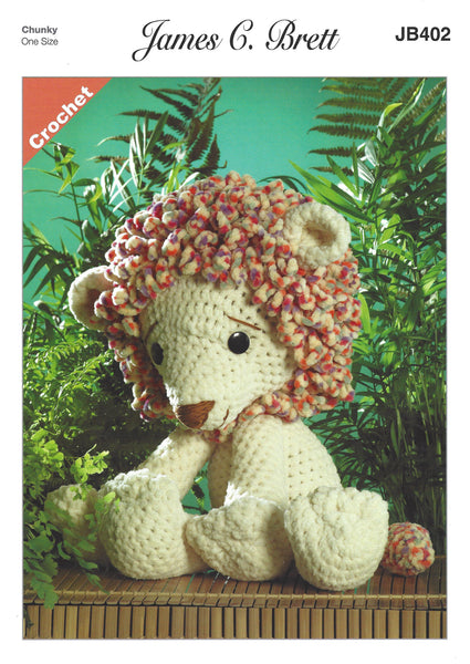James C Brett JB402 - Rory the Lion in Flutterby Crochet Pattern