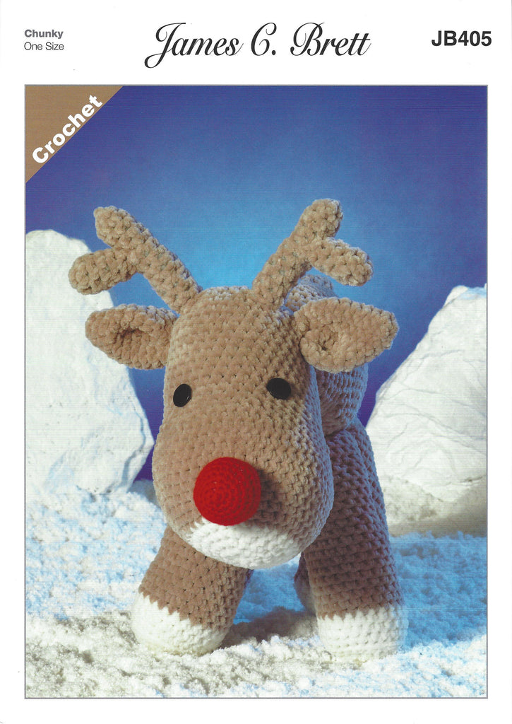 James C Brett JB405 - Rudolf the Reindeer in Flutterby Crochet ...