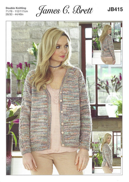 James C Brett JB415 - Ladies Jacket in DK Pattern
