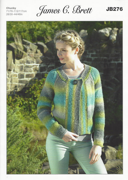 James C Brett JB276 - Ladies Jacket in Chunky Pattern - The Crafty Knitter Ltd - 1