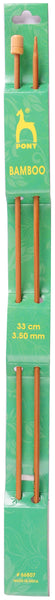Pony Bamboo Single Ended Knitting Pins - 33cm x 3.50mm - 66807 - The Crafty Knitter