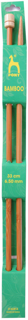 Pony Bamboo Single Ended Knitting Pins - 33cm x 6.50mm - 66814 - The Crafty Knitter
