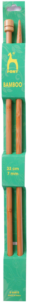 Pony Bamboo Single Ended Knitting Pins - 33cm x 7.00mm - 66815 - The Crafty Knitter