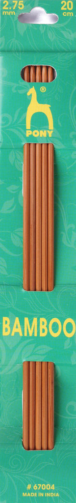 Pony Bamboo Double Ended Knitting Pins - 20cm x 2.75mm - 67004 - The Crafty Knitter