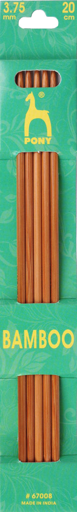 Pony Bamboo Double Ended Knitting Pins - 20cm x 3.75mm - 67008 - The Crafty Knitter