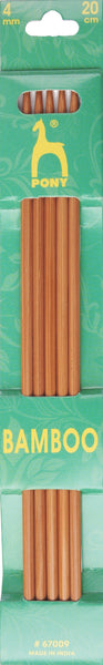 Pony Bamboo Double Ended Knitting Pins - 20cm x 4.00mm - 67009 - The Crafty Knitter