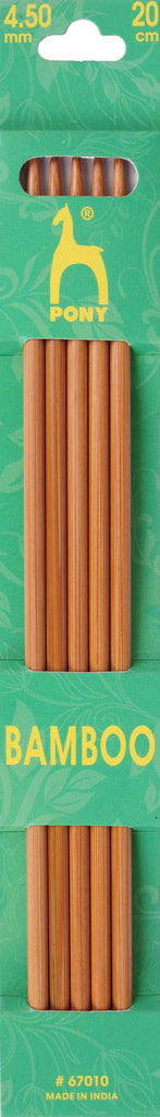 Pony Bamboo Double Ended Knitting Pins - 20cm x 4.50mm - 67010 - The Crafty Knitter