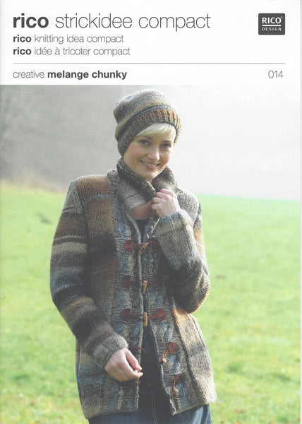 Rico 014 - Ladies Jacket in Rico Creative Melange Chunky Pattern - The Crafty Knitter Ltd - 1