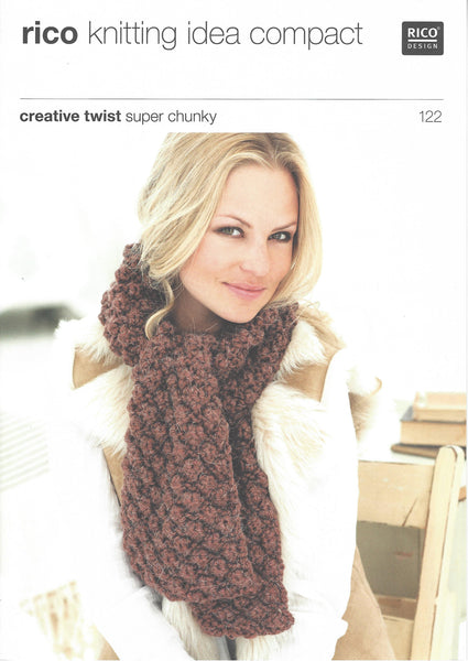 Rico 122 - Scarves & Snoods in Rico Creative Twist Super Chunky Pattern - The Crafty Knitter Ltd - 1
