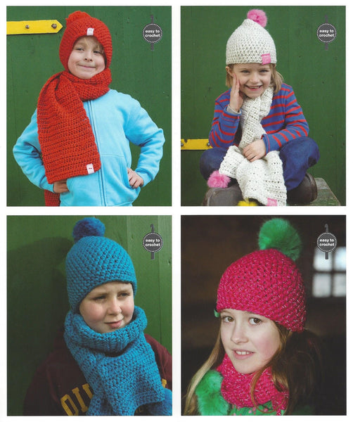 Rico 285 - Childrens Hats & Scarves in Rico Glowworm Pattern - The Crafty Knitter Ltd - 2