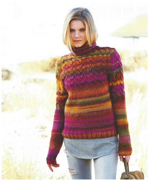 Rico 360 - Ladies Sweater & Hat in Rico Creative Melange Chunky Pattern - The Crafty Knitter Ltd - 2