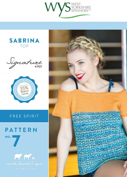 West Yorkshire Spinners Sabrina Top Pattern - The Crafty Knitter Ltd - 1