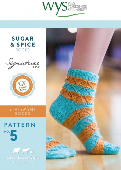 West Yorkshire Spinners Sugar & Spice Sock Pattern - The Crafty Knitter Ltd - 1