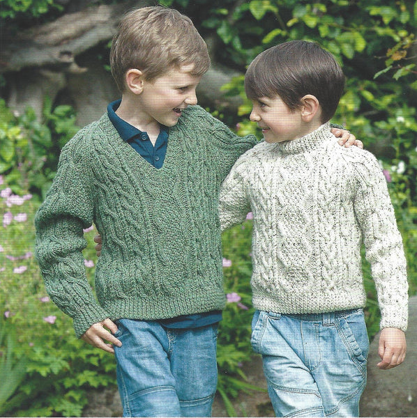UKHKA 161 - Childrens Country Aran Sweaters Pattern - The Crafty Knitter Ltd - 2